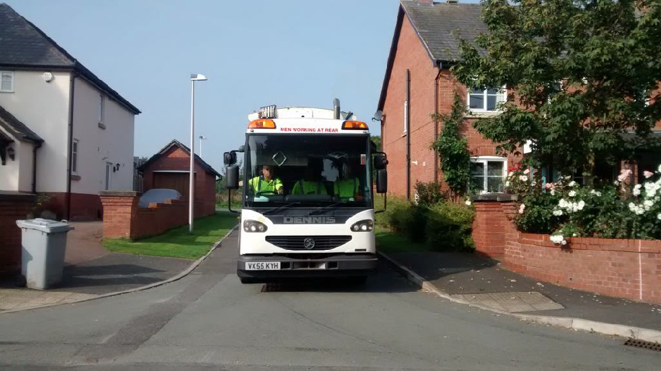 Bin collection Lorry